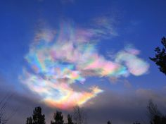 "Also known as ""nacreous"" or ""mother of pearl"" clouds, icy PSCs form in the lower stratosphere when temperatures drop to around minus Sunlight shining through tiny ice particles across produce…"