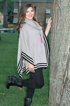 This poncho is an amazing add to make the perfect outfit! Dress it down or up to be part of the new trend!