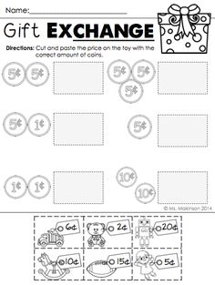 free 1st grade worksheets match the coins and its values projects to try pinterest. Black Bedroom Furniture Sets. Home Design Ideas