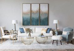 Looking for modern living room ideas with furniture and decor? Explore our beautiful living room ideas for interior design inspiration. Chic Living Room, New Living Room, Living Room Modern, Living Room Interior, Home And Living, Living Room Designs, Living Room Decor, Coastal Living, Living Room Canvas Art
