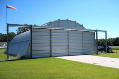 Quonset Huts - Easy to Construct Round Metal Quonset Steel Buildings Prefab Metal Buildings, Pole Buildings, Shop Buildings, Steel Buildings, Steel Building Homes, Metal Building Kits, Building A House, Steel Sheds, Steel Barns