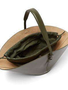 Sterling Silver Hoops, Silver Hoop Earrings, Fashion Bags, Fashion Accessories, Mac, Sack Bag, Drawstring Pouch, Khaki Green, Jil Sander