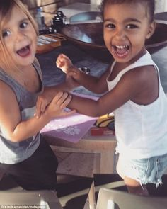 Happiness: Kim Kardashian celebrated her niece Penelope Disick's fourth birthday by posting a sweet video of the tot with her daughter North West
