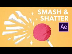 motion graphic After Effects Smash & Shatter Animation Tutorial - Destroy Anything! Design Typography, Design Logo, Graphic Design Tutorials, Design Resume, Ios Design, Dashboard Design, Design Trends, Motion Design, Storyboard