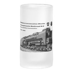 Baldwin Locomotive Works S-2 PRR Steam Turbine Beer Mugs By Zazzle Home #stanrail -$27.70  *Baldwin Serves The Nation Which The Railroads Helped To Build.*- Baldwin Locomotive Works Pennsylvania Railroad S-2 Steam Turbine Locomotive.  #Vintage #PennsylvaniaRailroad  #BLW #SteamTurbineLocomotive    #stanrails_store