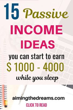 15 best passive income ideas to earn income every month. #sidehustle ideas to #workfromhome and #makemoney , #passiveincome ideas. - Aimingthedreams