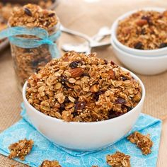 Coconut Quinoa Granola - If you're looking for an easy and delicious recipe for home-made granola, look no further! This granola is perfect sprinkled over yogurt, eaten by the handful, or even with a splash of milk. Packed with healthy oats, toasted almonds, crunchy quinoa, coconut, and a medley of dried fruit.