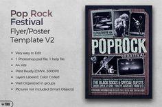 Pop Rock Festival Flyer Template V2 | The Hungry JPEG