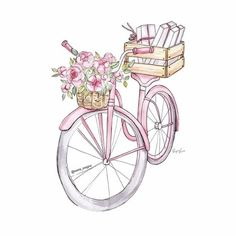 Find images and videos about fashion, vintage and grunge on We Heart It - the app to get lost in what you love. Bike Drawing, Chanel Art, Illustration Mode, Fancy Fonts, Bicycle Art, Watercolor Fashion, Fashion Art, Fashion Glamour, Artist Fashion