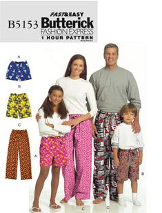 Butterick 5153 lounge pants sewing pattern