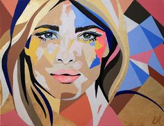 """She´s golden"" 140x100 cm via Emma Malm Art. Click on the image to see more!"