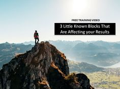 [VIDEO] 3 Little Known Blocks That are Affecting your Results. Watch now here:  http://amazingbusiness.com/3-little-known-blocks-that-are-affecting-your-results/