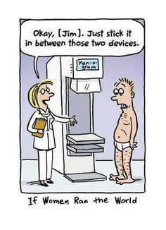 My wife probably drew this, she discusses this idea with me after each mammogram :(