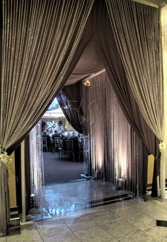 Beautiful entrance with beaded curtains