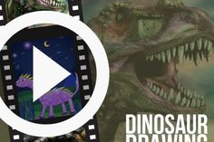 Time-Lapse Videos of Dinosaur Drawings Shared by Users