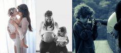 Lindas inspirações para mamães de segunda, ou terceira... ou quarta viagem, e que querem fotos da gestação com a participação do filho mais velho.