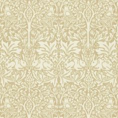 Brer Rabbit Wallpaper A classic William Morris floral and animal print wallpaper, in oatmeal and ivory.