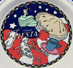 Genuine Fiesta American Apple Pie Dancing Lady Baker Plate Pan HLC 1997 Fall #Fiesta