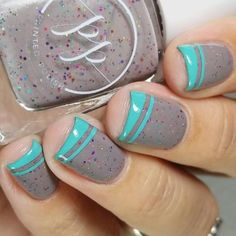 Bright Turquoise Tips To Pick Up Your Mood #shortnails #frenchtips #frenchmanicure ❤️ Taupe color nails manicures for all shapes are now gathered in one place. ❤️ See more: https://naildesignsjournal.com/taupe-color-nails/ #naildesignsjournal #nails #nailart #naildesigns #taupenails
