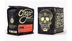 スタイリッシュなコーヒーパッケージデザイン