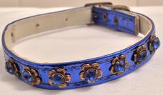 A personal favorite from my Etsy shop https://www.etsy.com/listing/385375894/vintage-blue-metallic-dog-or-cat-pet
