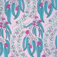 "PWAH074.JEWEL Pretty Potent Anna Maria Horner Eucalyptus Jewel Quilting 18"" BTHY Rowan Westminster Half Yard 18"" Quilt Fabric HY Floral by KinshipQuilters on Etsy"