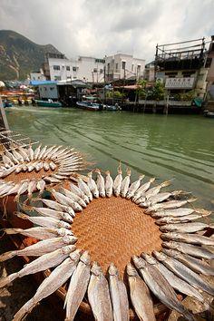 Pueblo de pescadores de la isla de Lantau. Lantau Island. Hong Kong.  © Inaki Caperochipi Photography