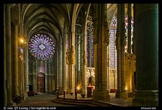 Transept, basilique St-Nazaire. Carcassonne, France. Most beautiful cathedral.
