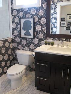 papel de parede no banheiro, pode sim, senhor!