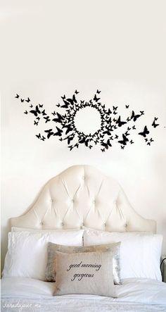 diy butterfly wall like serena s in gossip girl pinterest