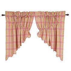 Imogene Scalloped Prairie Swag Curtain Valance