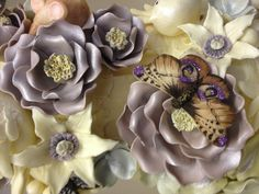 Beautiful moth on flowers... All in chocolate of course