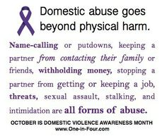 Emotional Abuse IS Domestic Violence.