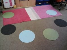 Placemats used for individual space for guided  groups
