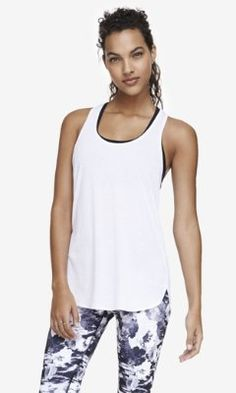 EXP CORE RELAXED TANK - WHITE from EXPRESS