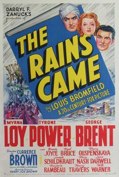 The Rain Came (1939) starring Tyrone Power, Myrna Loy and George Brent.