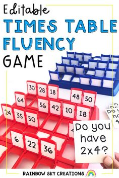 Children love to play games to learn! The perfect game to help your students to become confident and competent mathematicians when learning their multiplication facts! Templates are editable and we have included 4 different versions of this game. Primary Maths, Primary Classroom, Fluency Games, Times Tables, Rainbow Sky, Multiplication Facts, Australian Curriculum, 5th Grade Math, Child Love