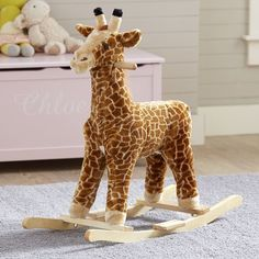 Rocking Horse For 1 Year Old Giraffe Baby Kid Toy Plush Soft Rocker Nursery Room Baby Shower Giraffe, Giraffe Nursery, Safari Nursery, Nursery Themes, Nursery Ideas, Safari Bedroom, Nursery Room, Girl Nursery, Nursery Decor