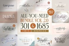 ALL-YOU-NEED BUNDLE VOL 2.0! by Letterhend Studio on @creativemarket
