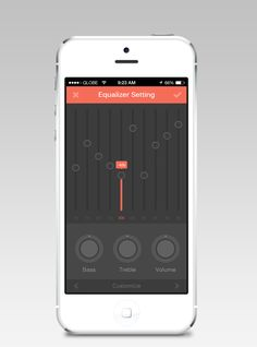 Music Equalizer Setting by Bluroon #mobile #ui