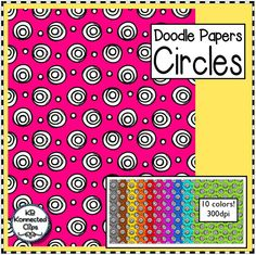 $ Doodle Papers - Circles https://www.teacherspayteachers.com/Product/Circles-Doodle-Papers-2007759