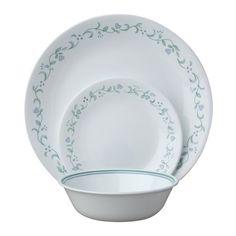 Corelle Livingware 18 Piece Dinnerware Set Country Cottage Service for 6 Dinnerware Sets Walmart, Dinnerware Sets For 12, Square Dinnerware Set, White Dinnerware, Corelle Plates, Alouette, Country Dinner, Serveware, Tableware