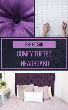 Make this DIY tufted headboard and live the life of luxury!