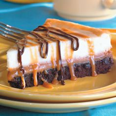 brownie caramel cheesecake!