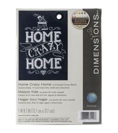 Dimensions® Mini Counted Cross Stitch Kit-Home Crazy Home