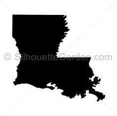 louisiana silhouette printable clear - 236×234
