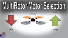 How to select the right motor for your multi-rotor (all types - Tri, Qua...