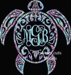 Custom Glitter Bird And Feather Monogram Car Decal Cup Decal - Monogram decal for car