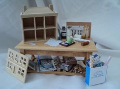 DOLLS HOUSE MINIATURES - Making the Dolls House Table set
