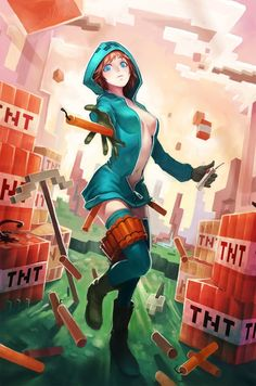 minecraft anime spider girl - Google Search